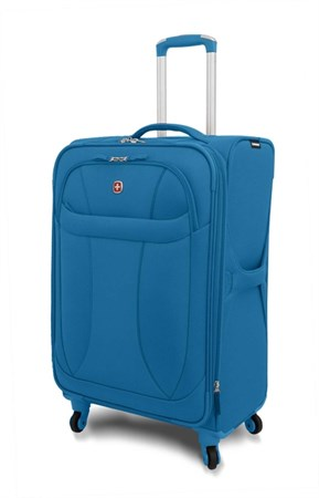 "чемодан ""NEO LITE Spinner"", синий, полиэстер, 48х27x74 см, 96 л / Wenger - фото 6250"