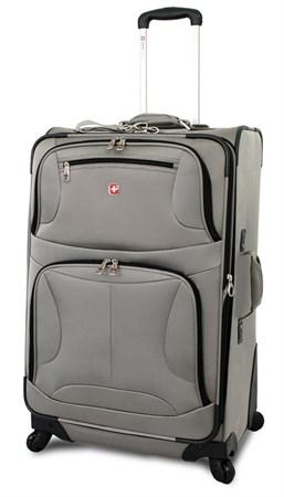 """чемодан """"ZURICH Spinner"""", серый, полиэстер, 46х27x71 см, 88 л / Wenger - фото 6253"""