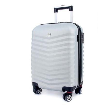 чемодан FRIBOURG, серебристый, АБС-пластик, 33x23x47 см, 35 л / Wenger - фото 6266