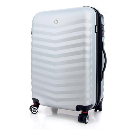 чемодан FRIBOURG, серебристый, АБС-пластик, 38x28x60 см, 64 л / Wenger - фото 6270