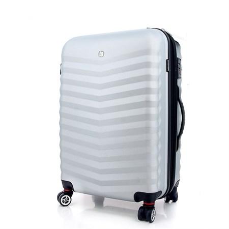 чемодан FRIBOURG, серебристый, АБС-пластик, 46x30x70 см, 97 л / Wenger - фото 6274