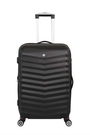 чемодан FRIBOURG, чёрный, АБС-пластик, 38x28x60 см, 64 л / Wenger - фото 6278