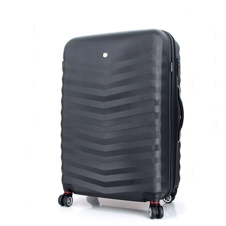 чемодан FRIBOURG, чёрный, АБС-пластик, 46x30x70 см, 97 л / Wenger - фото 6282