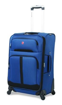 чемодан SWISSGEAR ANDES, синий/чёрный, полиэстер 600D/400Dx350D, 46x27x71 см, 88 л / Wenger - фото 6286