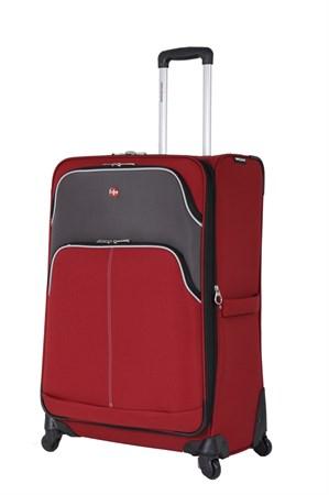 чемодан SWISSGEAR ARBON, красный/серый, полиэстер 600D/420Dx280D добби, 48x27x71 см, 92 л / Wenger - фото 6290