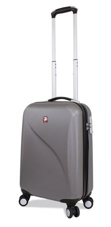 чемодан SWISSGEAR EVO LITE, серый, поликарбонат, 34x19x48 см, 31 л / Wenger - фото 6294