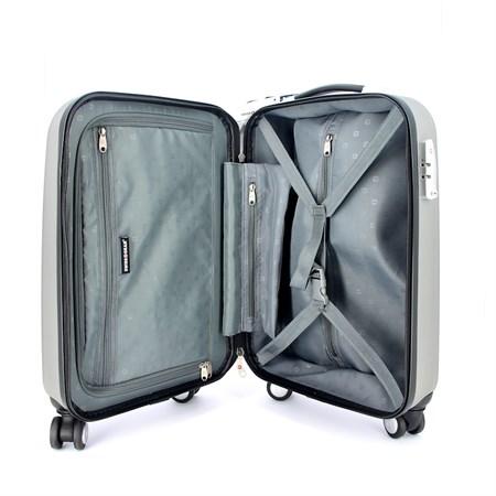 чемодан SWISSGEAR EVO LITE, серый, поликарбонат, 34x19x48 см, 31 л / Wenger - фото 6295