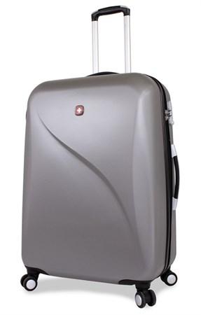 чемодан SWISSGEAR EVO LITE, серый, поликарбонат, 48x28x69 см, 92 л / Wenger - фото 6298