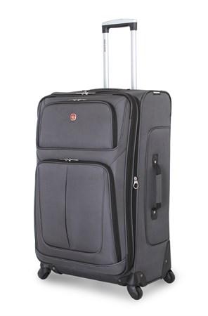 чемодан SWISSGEAR SION, серый, полиэстер 750x750D добби, 46x27x74 см, 90 л / Wenger - фото 6300