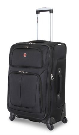 чемодан SWISSGEAR SION, чёрный, полиэстер 750x750D добби, 46x27x74 см, 90 л / Wenger - фото 6301