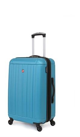Чемодан SWISSGEAR USTER, голубой, АБС-пластик, 41x26x58 см, 62 л - фото 6310