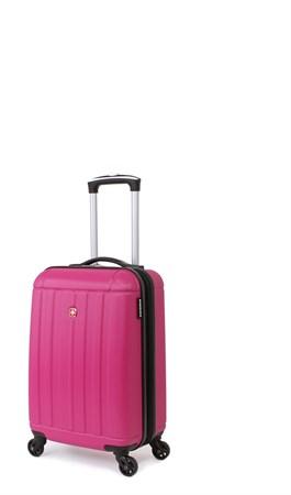 Чемодан SWISSGEAR USTER, розовый, АБС-пластик, 34x22x48 см, 37 л - фото 6311