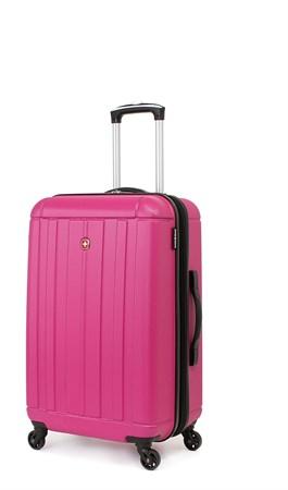 Чемодан SWISSGEAR USTER, розовый, АБС-пластик, 41x26x58 см, 62 л - фото 6312