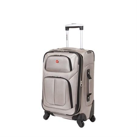 Чемодан WENGER SION, светло- серый, полиэстер 750x750D добби, 37x22x60 см, 35 л - фото 6328