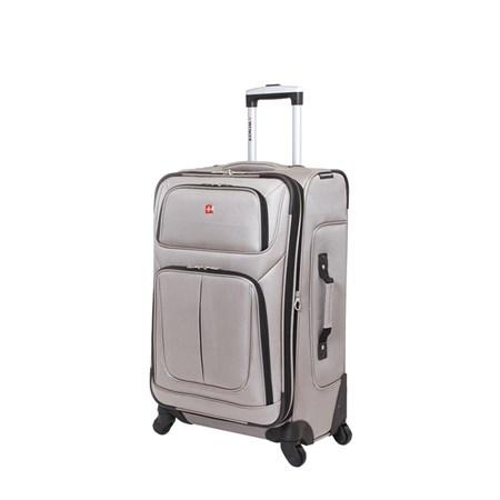 Чемодан WENGER SION, светло- серый, полиэстер 750x750D добби, 41x26x70 см, 56 л - фото 6329