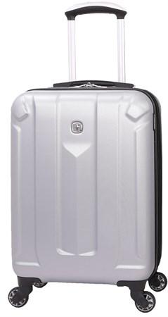 Чемодан WENGER ZURICH III, серебристый, АБС-пластик, 35,5x23x56 см, 34 л - фото 6348