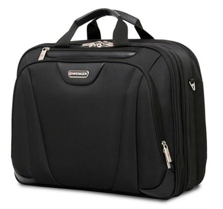 сумка 17'', черный, 3 отделения, полиэстер 43х18х34 см, 26 л / Wenger - фото 6362