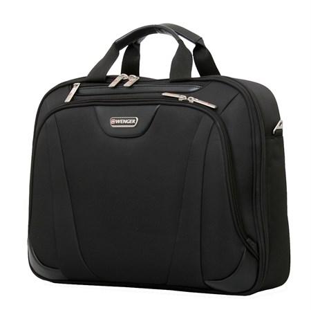 """сумка 17"""", черный, с одним отделением, полиэстер 43х10x33 см (17л) / Wenger - фото 6364"""
