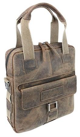 """сумка вертикальная """"ARIZONA"""", коричневый, кожа, 35x9x37 см / Wenger - фото 6366"""