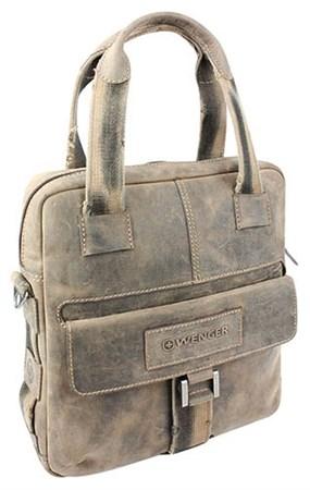 """сумка вертикальная """"STONEHIDE"""", коричневый, кожа, 33x34x12 см / Wenger - фото 6371"""