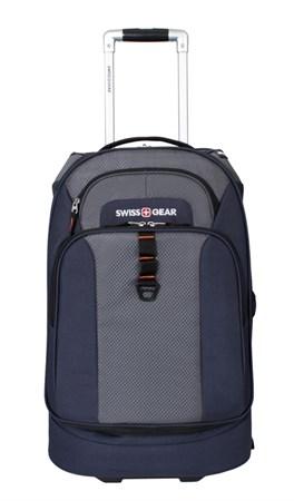 сумка на колесах SWISSGEAR Sport Line, синий/серый, полиэстер 600Dx600D/рипстоп 420X250D, 36x20x53см - фото 6385