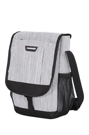 Сумка наплечная вертикальная WENGER, cерая, ткань Grey Heather/ полиэстер 600D PU, 28x7,6x34,3см - фото 6408