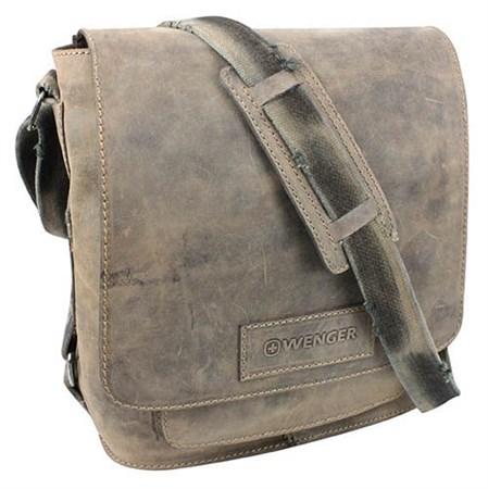 """сумка наплечная вертикальная А4 """"STONEHIDE"""", коричневый, кожа, 35х13x36 см / Wenger - фото 6417"""