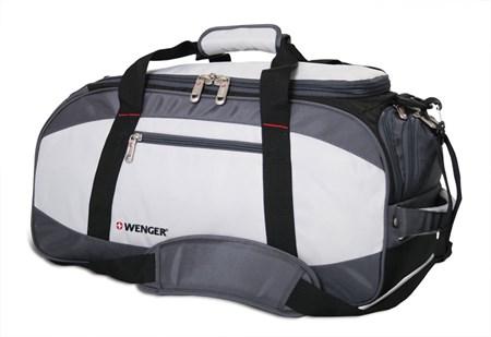 сумка спортивная , серый/чёрный, полиэстер 1200D, 52х25х30 см, 39 л / Wenger - фото 6433