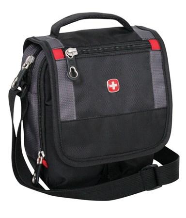 сумка-планшет , черный/серый, 15х5х22 см / Wenger - фото 6440