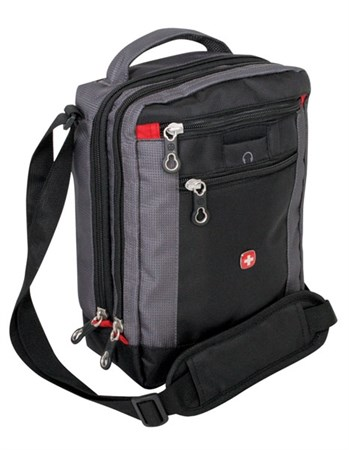 сумка-планшет , черный/серый, 22х9х29 см / Wenger - фото 6444