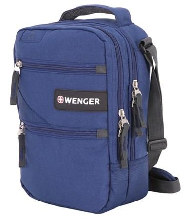 Сумка-планшет WENGER, синий, полиэстер M2, 22x9x29 см - фото 6448