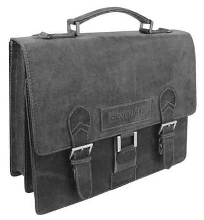 """портфель """"ARIZONA"""", черный, кожа, 38x14x33 см / Wenger - фото 6472"""