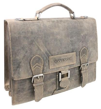 """портфель """"STONEHIDE"""", коричневый, кожа, 38x14x33 см / Wenger - фото 6473"""