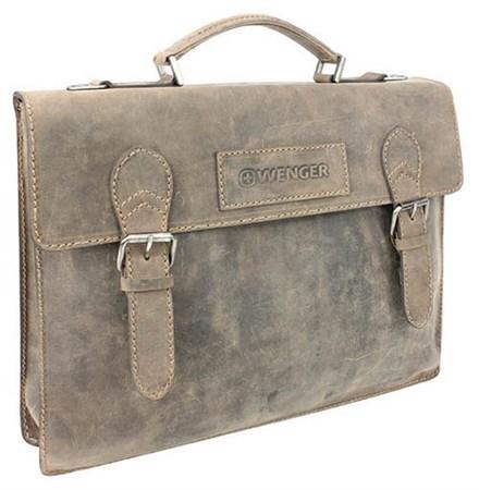 """портфель """"STONEHIDE"""", коричневый, кожа, 39x5x30 см / Wenger - фото 6477"""