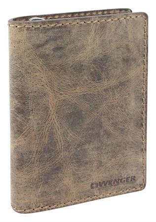 портмоне Arizona, коричневый, воловья кожа, 11х3х16 см / Wenger - фото 6492