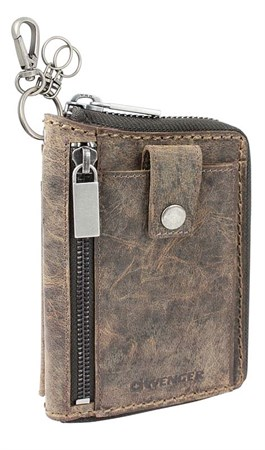 портмоне Arizona, на молнии, коричневый, воловья кожа, 11,5х2,5х16,5 см / Wenger - фото 6494