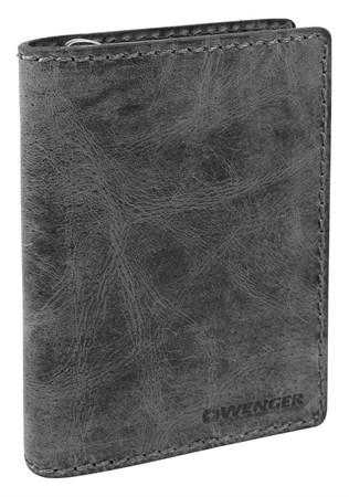 портмоне Arizona, черный, воловья кожа, 11х3х16 см / Wenger - фото 6503