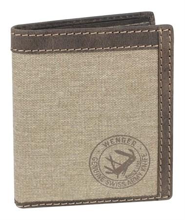 портмоне Canvas Hunter, коричневый, воловья кожа/ткань, 10,5х3х12,5 см / Wenger - фото 6505