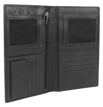 портмоне для документов Alphubel, черный, кожа наппа, 12х1,5х22 см / Wenger - фото 6535