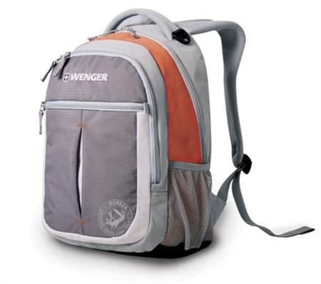 Рюкзак WENGER, серый/оранжевый, полиэстер 600D, 32х15х45 см, 22 л - фото 8222