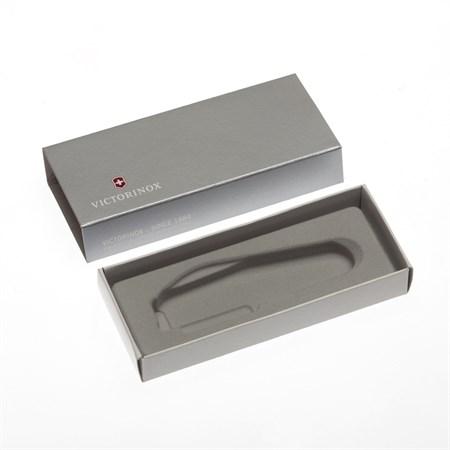 Коробка для ножей VICTORINOX 91 мм толщиной до 2 уровней, картонная, серебристая - фото 8249