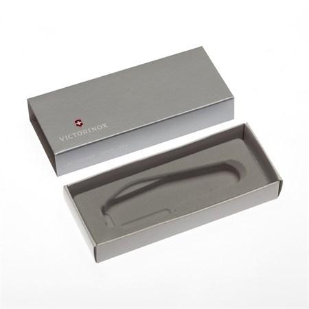 Коробка для ножей VICTORINOX 91 мм толщиной до 3 уровней, картонная, серебристая - фото 8250
