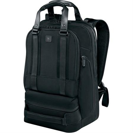 Рюкзак Lexicon Professional Bellevue 15,6'', чёрный, нейлон/кожа, 30x19x46 см, 26 л - фото 8281