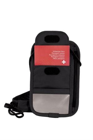 Кошелек на шею VICTORINOX Lifestyle Accessories 4.0 Boarding Pouch, чёрный, полиэстер, 13x1x20 см - фото 8333
