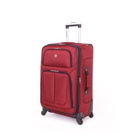 Чемодан SWISSGEAR SION, бордовый, полиэстер 750x750D добби, 41x26x70 см, 56 л - фото 8794