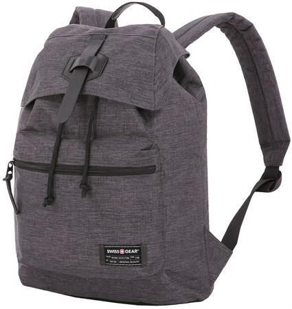 Рюкзак SWISSGEAR 13'', cерый, ткань Grey Heather/ полиэстер 600D PU , 29х13х40 см, 15 л - фото 8857