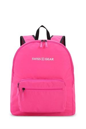 Рюкзак SWISSGEAR складной, розовый, полиэстер, 33,5х15,5x40 см, 21 л - фото 9031