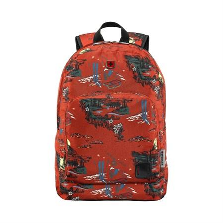 """Рюкзак WENGER Crango 16'', кирпичный с рисунком """"Альпы"""", полиэстер 600D, 33x22x46 см, 27 л - фото 9487"""