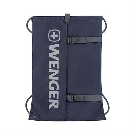 Рюкзак-мешок на завязках WENGER XC Fyrst, синий, полиэстер, 35x1x48 см, 12 л - фото 9501