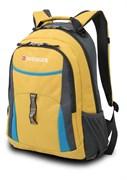 рюкзак , желтый/голубой/серый, полиэстер 600D/хонейкомб, 32x15x45 см, 22 л / Wenger